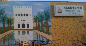 Mural at Marrakech Cafe
